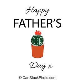 powitanie, szczęśliwy, dzień, karta, ojcowie