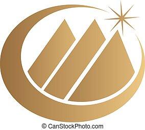 powodzenie, handlowy, wektor, projektować, szablon, logo