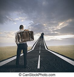 powodzenie, i, kariera, od, niejaki, biznesmen
