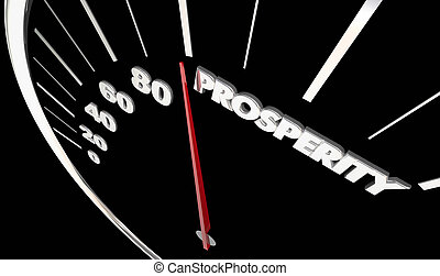 powodzenie, pieniądze, ilustracja, ekonomiczny, dochód, szybkościomierz, zarobki, 3d