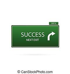 powodzenie, znak