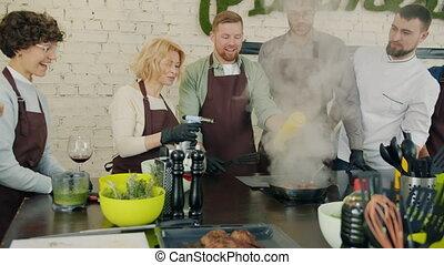 powolny ruch, mistrz kucharski, kierownictwo, kobiety, klasa...