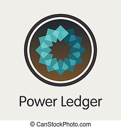 POWR - Power Ledger. The Icon of Money or Market Emblem. -...