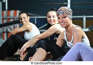 poza, grupa, pracujący kobiety