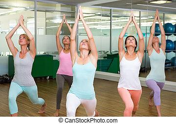 poza, wojownik, yoga klasa, stosowność, studio