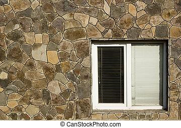 poziomy, okno, nowoczesny, zaciemnia, plastyk