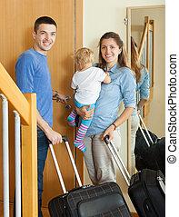 pozitív, család, utazó