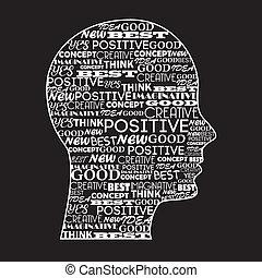 pozitív, elme