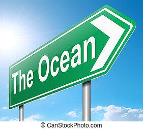 poznaczcie., ocean