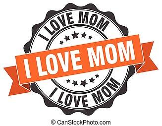 poznaczcie., znak, miłość, mamusia, stamp.