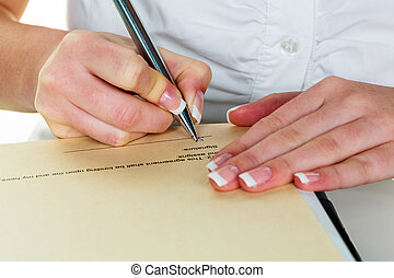 poznamenat, plnicí pero, dostat, rukopis
