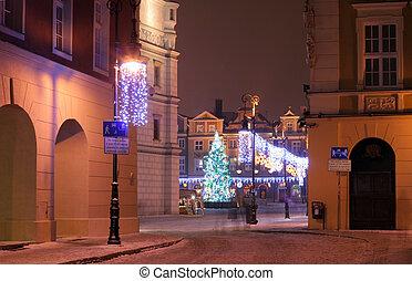 poznan, cidade, antigas, polônia