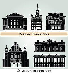 Poznan Landmarks - Poznan landmarks and monuments isolated...