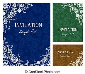 pozvání, karta, vektor, ilustrace