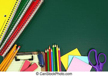 pozycje, szkoła, kopia, wstecz, przestrzeń