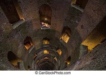 Pozzo di San Patriazio, a historic well in Orvieto, Umbria, central Italy
