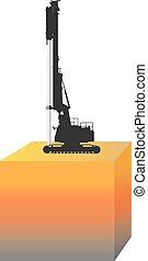 pp de drive, construcción, pila, método