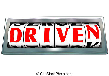 pp de drive, dedicación, odómetro, palabra, ambición