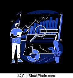 pp de drive, vector, datos, illustration., empresa / negocio...