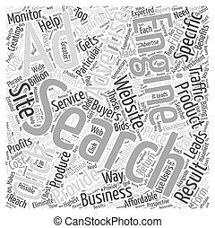 ppc, エンジン, 捜索しなさい, 概念, 単語, jp, 広告, 雲