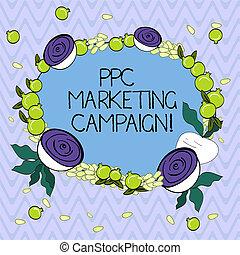 ppc, concepto, texto, guirnalda, campaign., uno, honorario, clicked, anuncios, paga, diminuto, escritura, su, beet., empresa / negocio, mercadotecnia, granada, cada, corte, floral, hecho, palabra, semillas, brillante, tiempo, pequeño