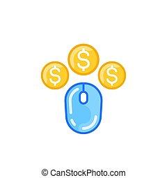 ppc, pay per click, vector icon