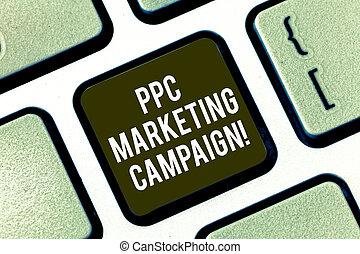 ppc, telclado numérico, foto, campaign., señal, ordenador teclado, mensaje, honorario, clicked, anuncios, su, paga, crear, intention, texto, conceptual, mercadotecnia, actuación, tiempo, llave, uno, idea., planchado, cada