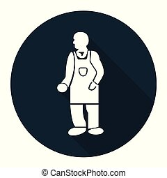 PPE Icon. Wear Protective Clothing Symbol On black Background