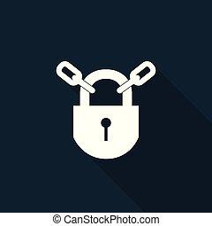 PPE Icon.Keep Locked Symbol Sign On black Background