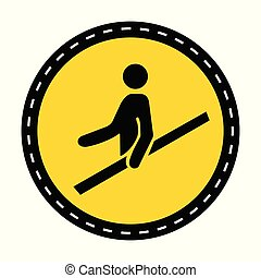 PPE Icon.Use Handrail Symbol Sign On black Background