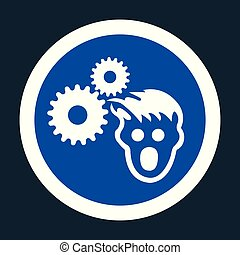 PPE Icon.Wear Hairnet Symbol Sign On black Background
