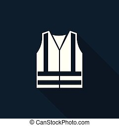 PPE Icon.Wear High Visibilty Clothing Symbol Sign On black...