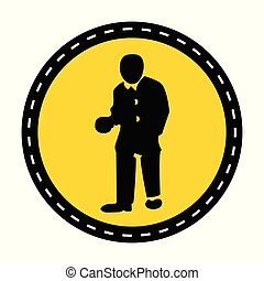 PPE Icon.Wear Protective Clothing Symbol Sign On black...
