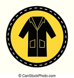 PPE Icon.Wear Smock Symbol Sign On black Background