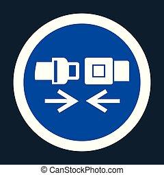 ppe, símbolo, icon.wear, señal, seguridad, plano de fondo, cinturón negro