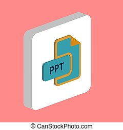 PPT computer symbol - PPT document Simple vector icon. ...