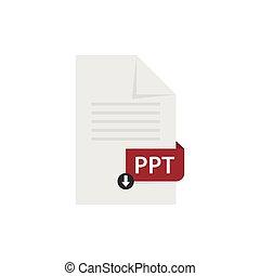 PPT document download file format vector image. PPT file ...