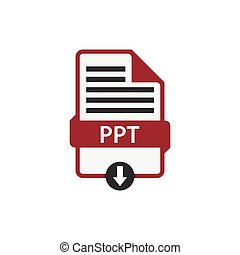 PPT document download file vector - PPT document download ...