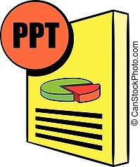 PPT file icon cartoon - PPT file icon in cartoon style ...