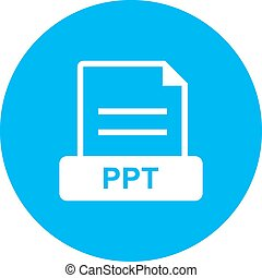 PPT , File - PPT, file, presentation icon vector image. Can ...