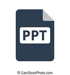 PPT Icon on white background. Vector illustration