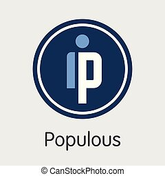 PPT - Populous. The Icon of Cryptocurrency or Market Emblem...