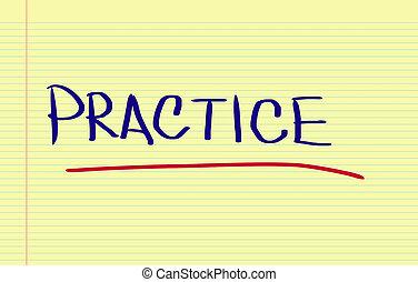 práctica, concepto