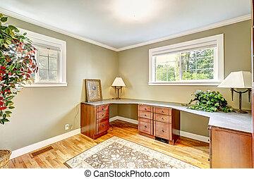 práctico, diseño, habitación, oficina