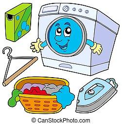 prádelna, vybírání