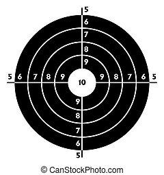 prática, alvo disparando