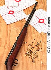 prática, alvo, rifle