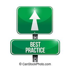 prática, conceito, melhor, sinal estrada