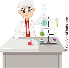 prática, conduta, químico, professor