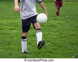 prática futebol